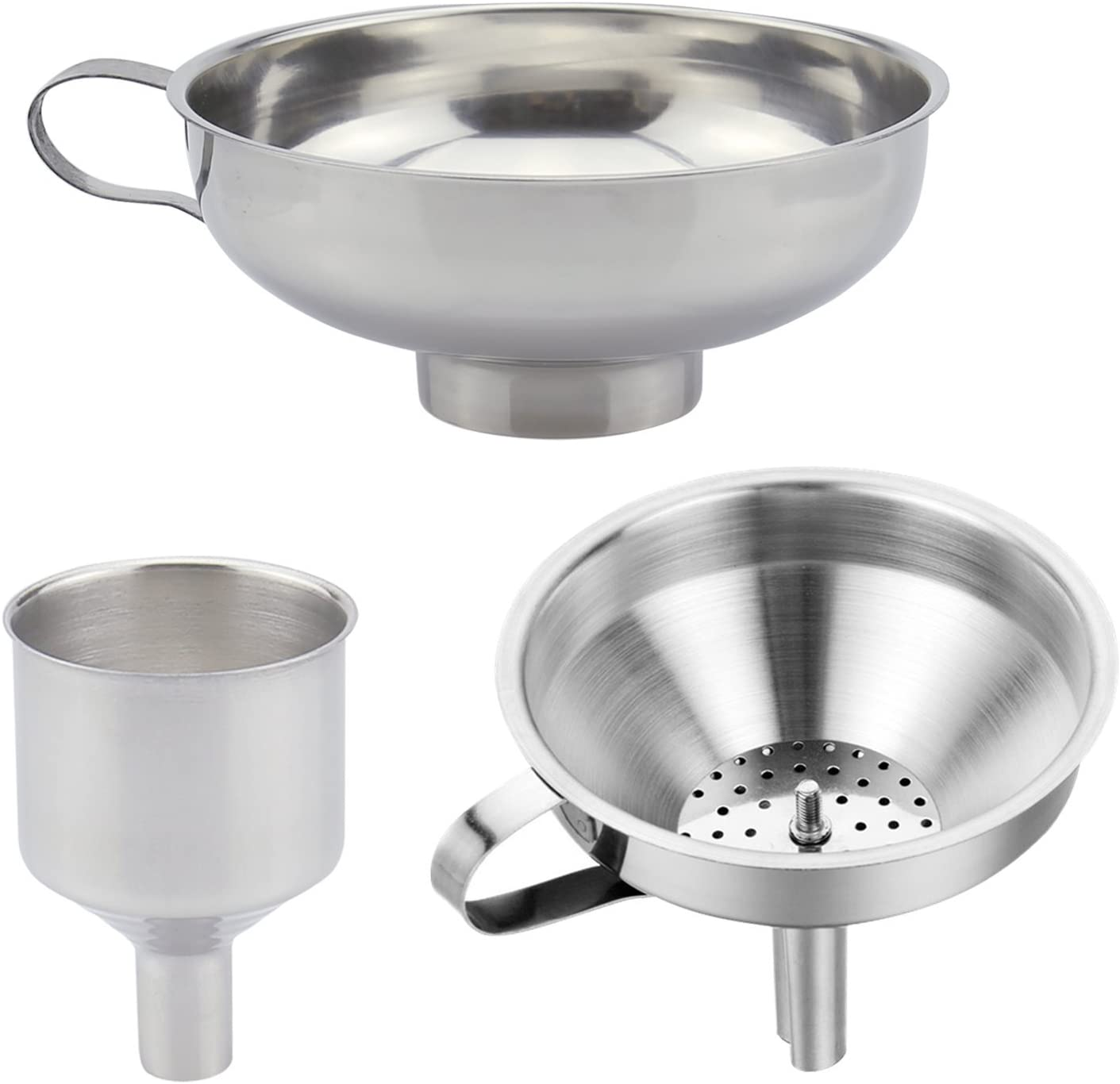 Stainless Steel Funnel Wear-resistant Useful Funnels Home Kitchenware Great