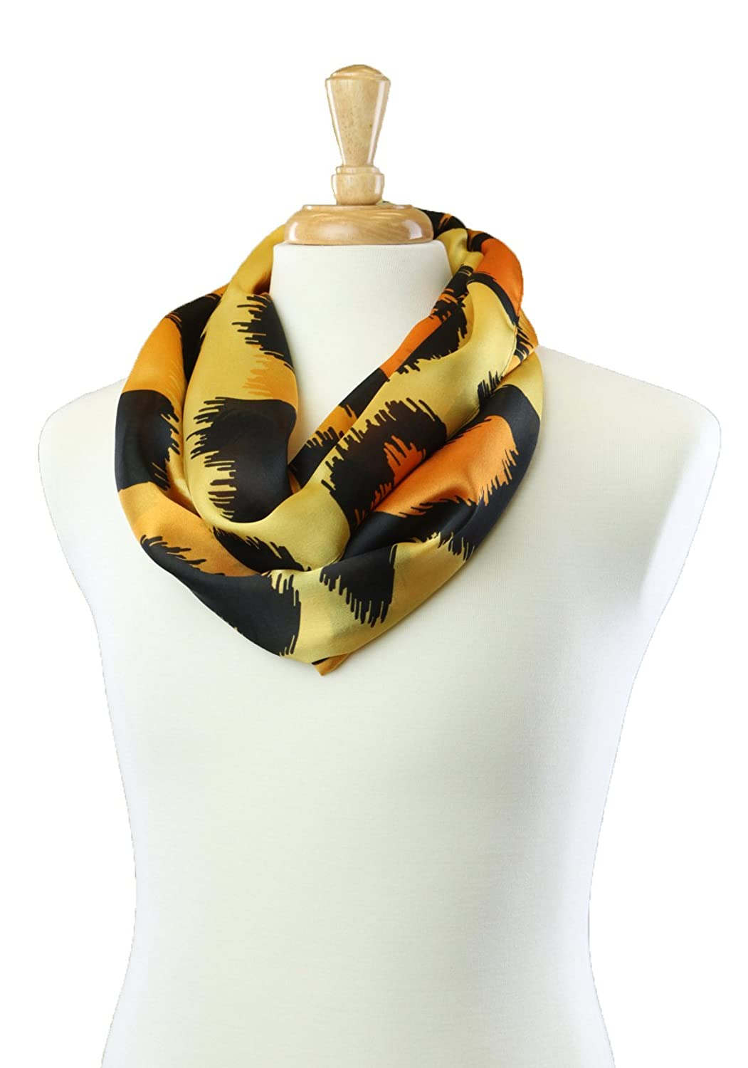 SAFARI SUNSET INFINITY LOOPED SILK WOMEN'S FASHION SCARF
