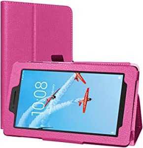 Lenovo Tab E8 Case, EpicGadget Lightweight Cover Folio PU Leather Folding Stand Case for Lenovo E8 8 Inch Tablet 2018 (Pink)
