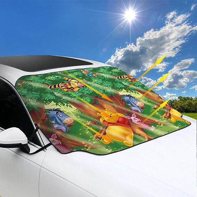 Waterproof Windshield Protector Car//Truck//SUV Car Windsheild Sun Shade Winnie Eeyore Car Front Windshield Cover,Frost Guard Protector Ice Cover