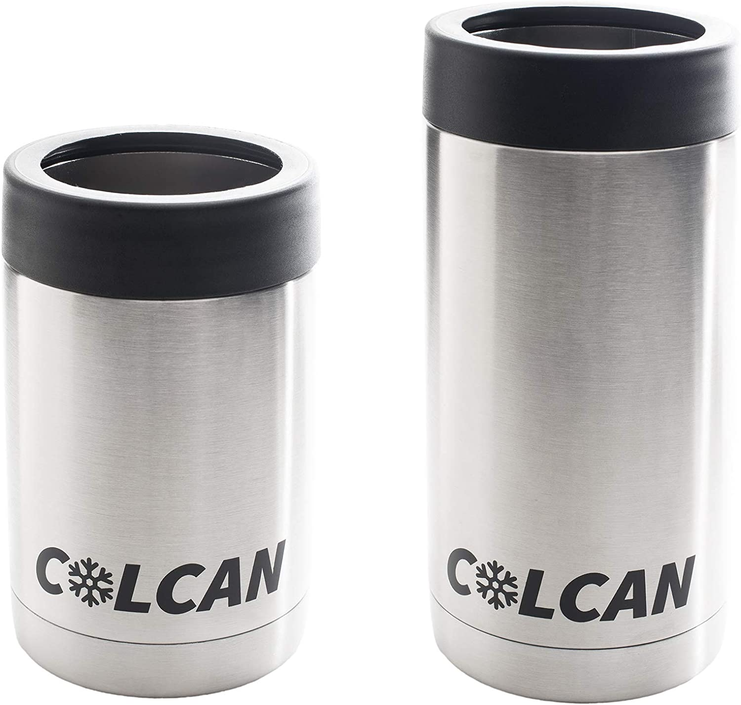 Colcan 12oz 16oz Can Cooler Combo - Stainless Steel Double Insulated