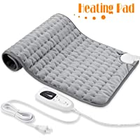 """Heating Pad, Electric Heat Pad for Back Pain and Cramps Relief - Electric Fast Heat Pad with 6 Heat Settings Moist Heat Therapy Options -Auto Shut Off- Machine Washable 12"""" x 24"""""""