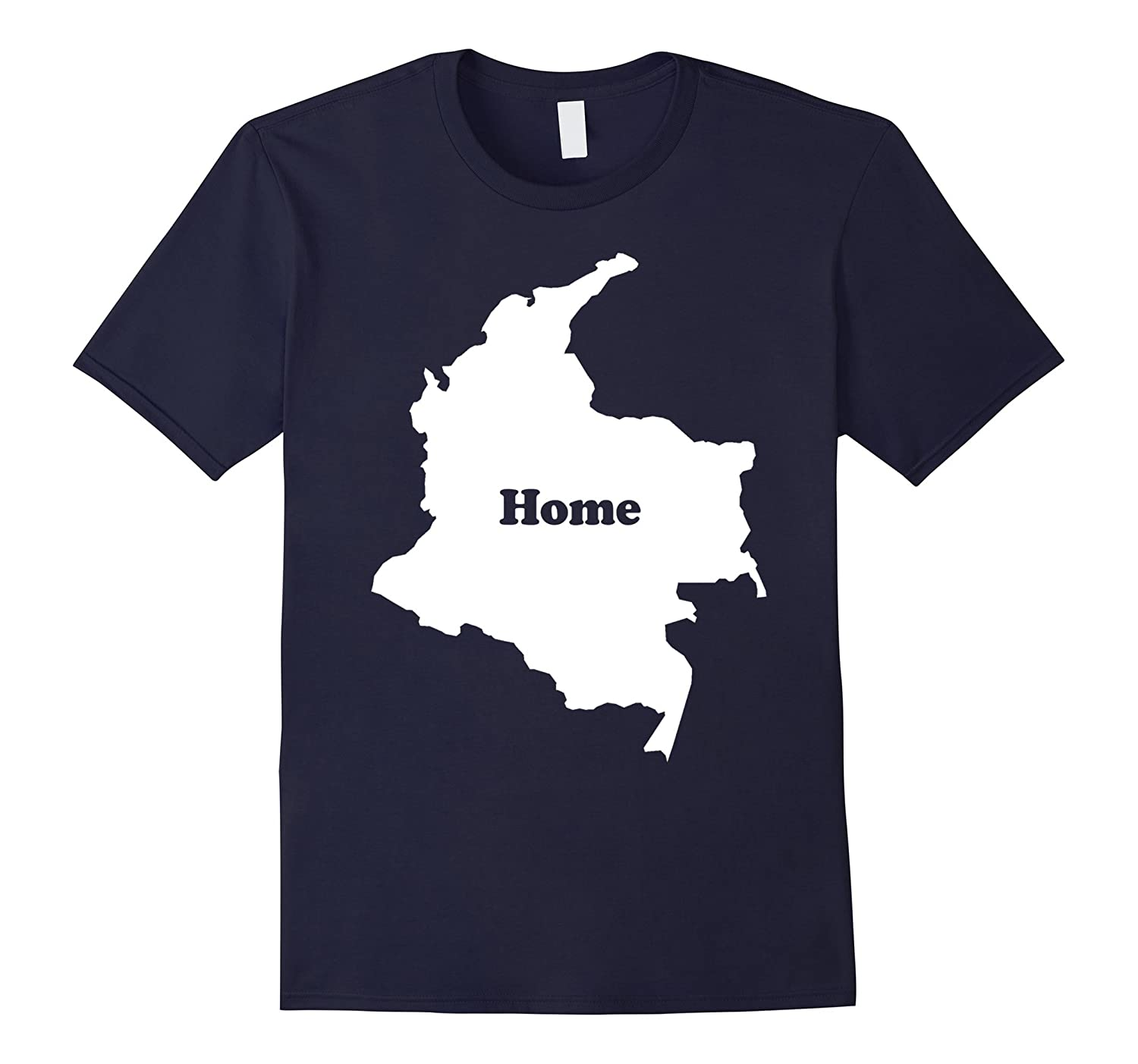 Colombia Home Map Outline Shape Funny T-Shirt-CD