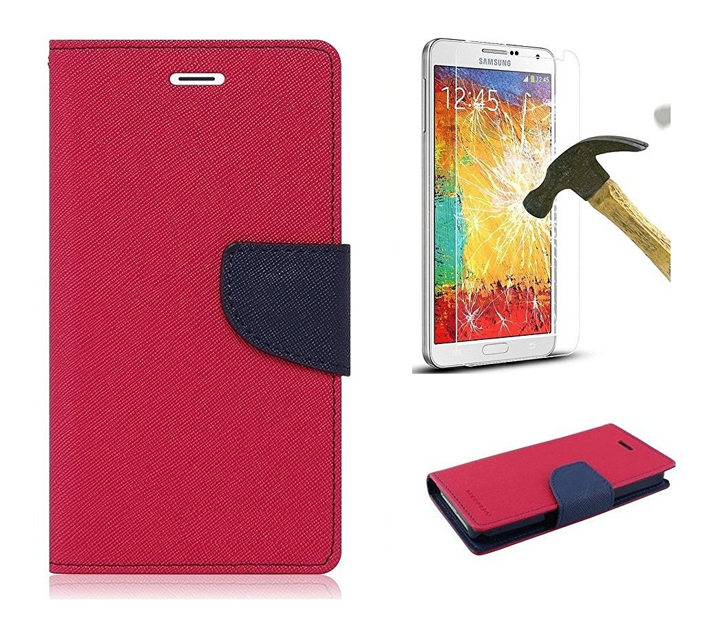 Samsung Galaxy J7 Prime Sm G610f Mercury Flip Wallet Goospery Plus Canvas Diary Case Red Electronics