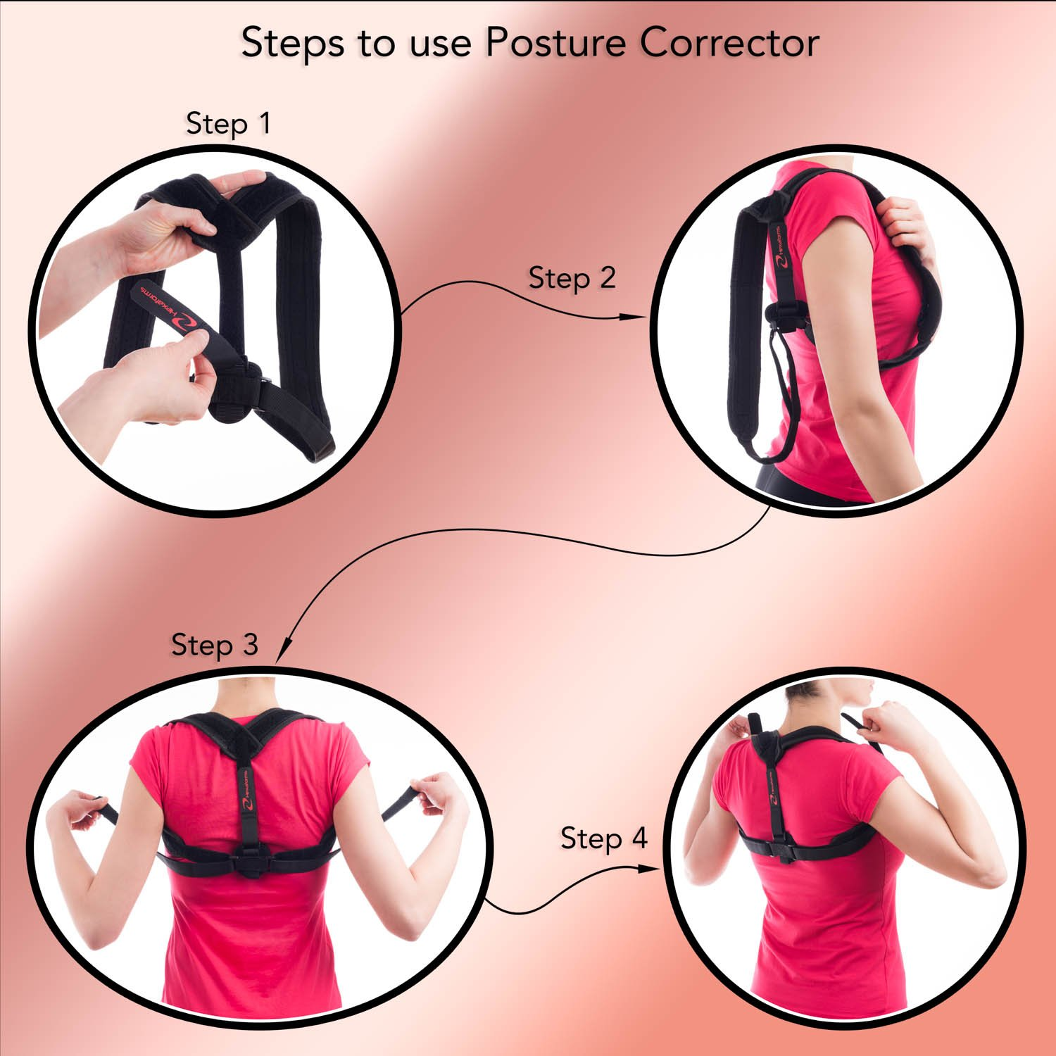 Hexaforms Back Posture Corrector for Women & Men - Effective and Comfortable Posture Brace for Slouching and Hunching - Clavicle Support for Upper Back & Shoulder Pain Relief - Medical Problems by Hexaforms (Image #6)