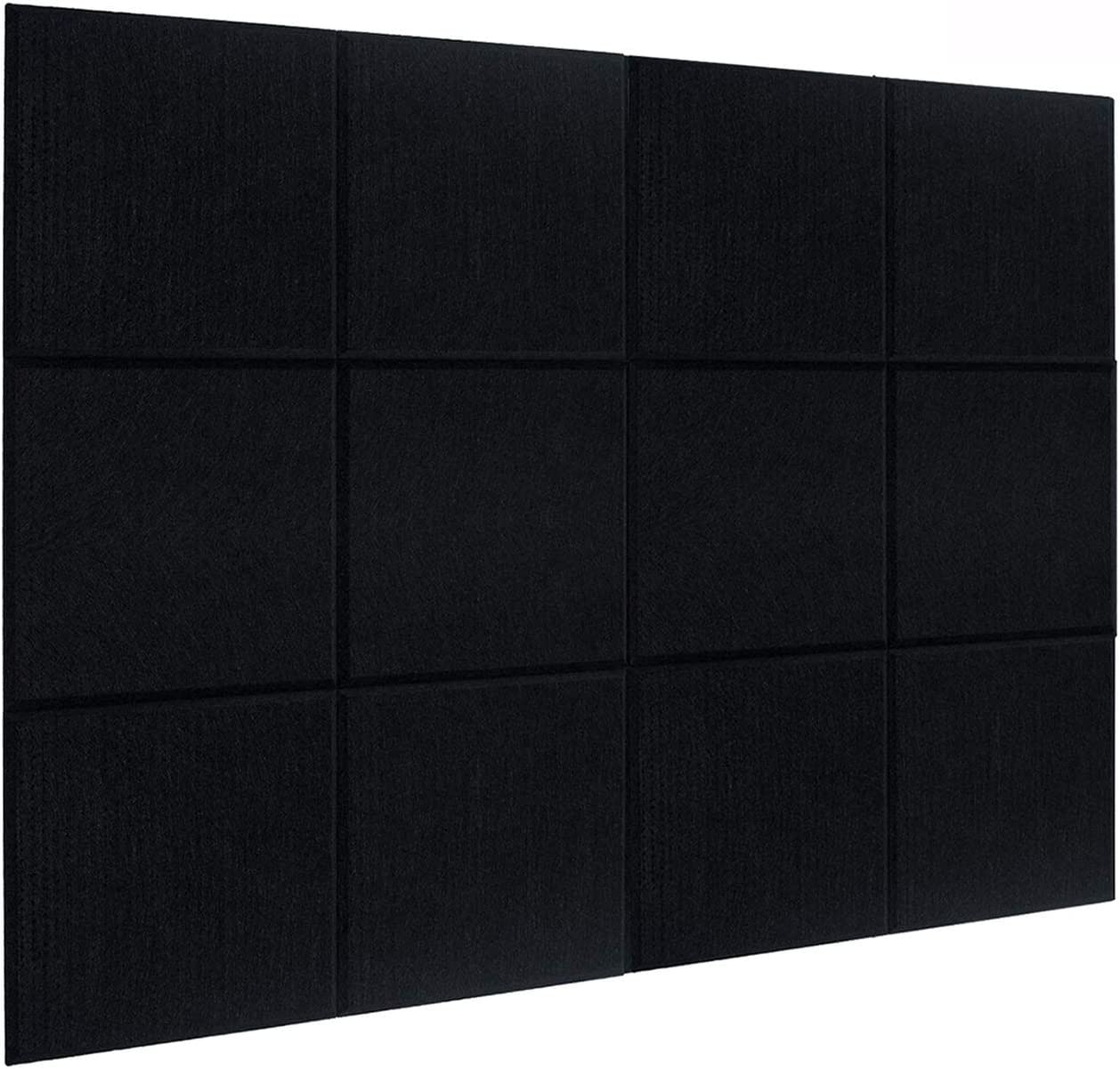 DEKIRU New 12 Pack Acoustic Foam Panels, 12 X 12 X 0.4 Inches Soundproofing Insulation Absorption Panel High Density Beveled Edge Sound Panels, Acoustic Treatment Used in Home&Offices Wall