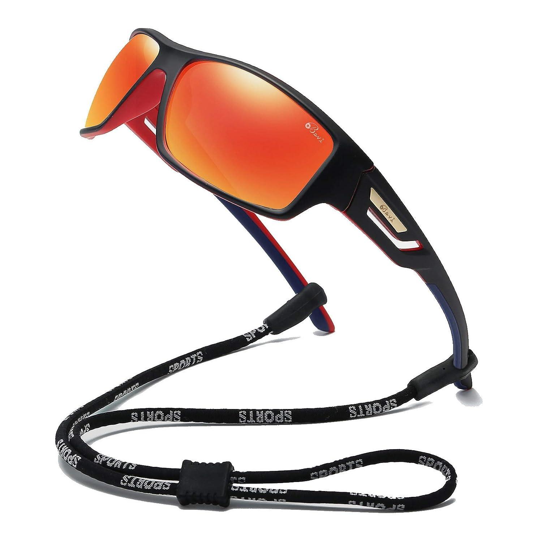 Bevi Polarized Sports Sunglasses TR90 Unbreakable Frame for Men Women Running Cycling Baseball