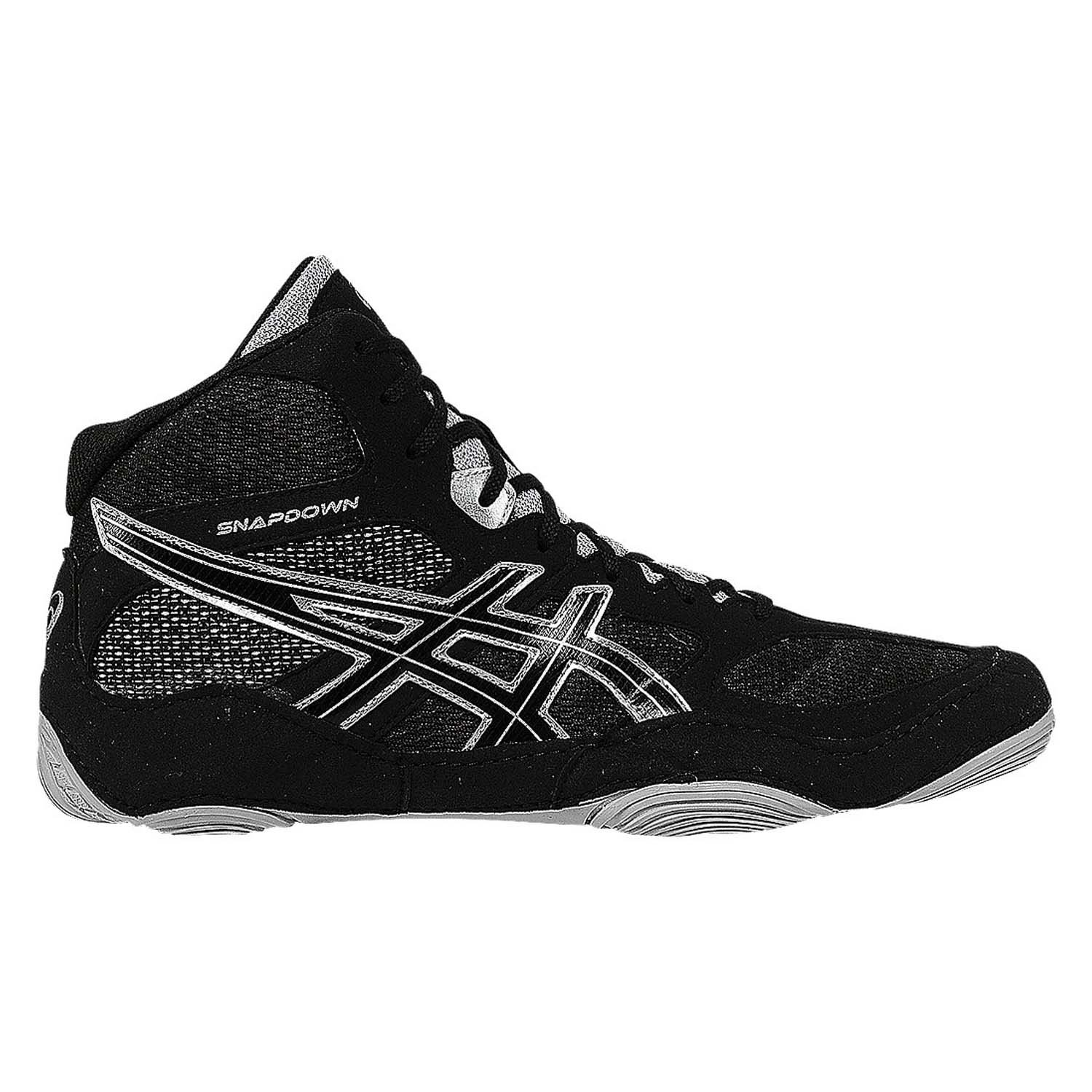 ASICS Men's Snapdown Wrestling Shoe, Black/Silver, 12 M US by ASICS