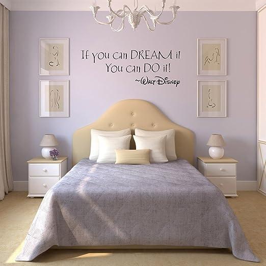 """Soledì  adesivi murales carta da parete frase """"if you can dream 26 ..."""