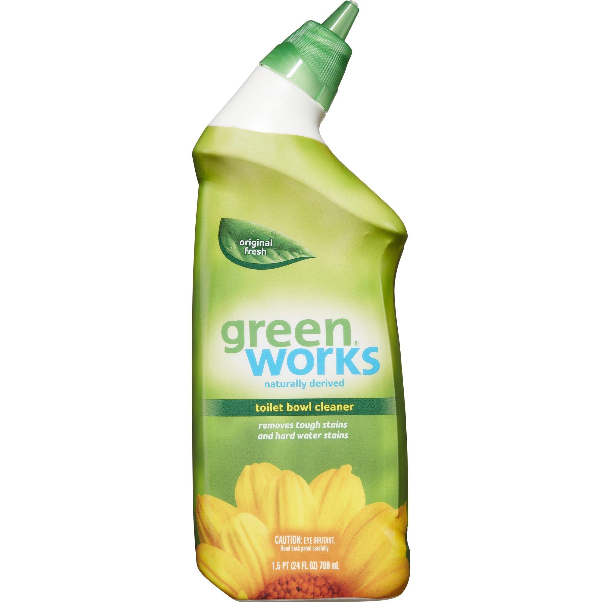 Green Works Toilet Bowl Cleaner, Toilet Gel Cleaner - 24 Ounces, 9 Bottles/Case (00451)