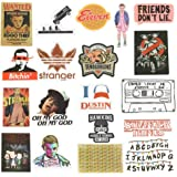 Laptops Sticker,Stranger Things Stickers for Water Bottles.18 PCS Waterproof Vinyl Decal Sticker for Phone,Computer,Hydro Flasks,Cars,Bicycles,Mac Book,ski, PS4, Xbox ONE. (Colorful)