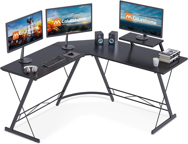 "Coleshome L-Shaped 51"" Corner Computer Desk $49.99 Coupon"