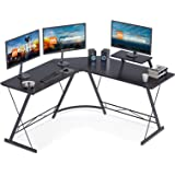 "Coleshome L Shaped Desk, 51"" Home Office Corner Desk with Shelf, Gaming Computer Desk with Monitor Stand, PC Table…"
