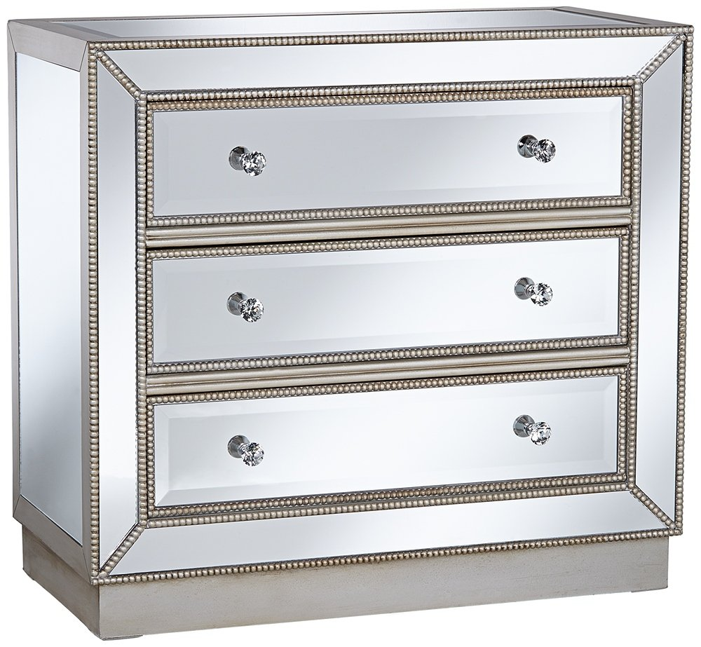 amazoncom trevi quot wide drawer mirrored accent chest  - amazoncom trevi quot wide drawer mirrored accent chest kitchen dining