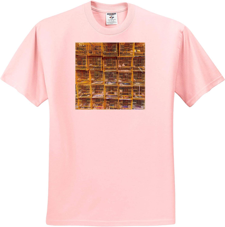 3dRose Yuen Po Street Bird Garden Market, Mongkok, Kowloon, Hong Kong, China - T-Shirts (ts_329485)