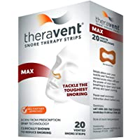 Theravent Snore Therapy Quiet Nights Flexible Seal Strips, Max, 20 Ea (pack of 4)