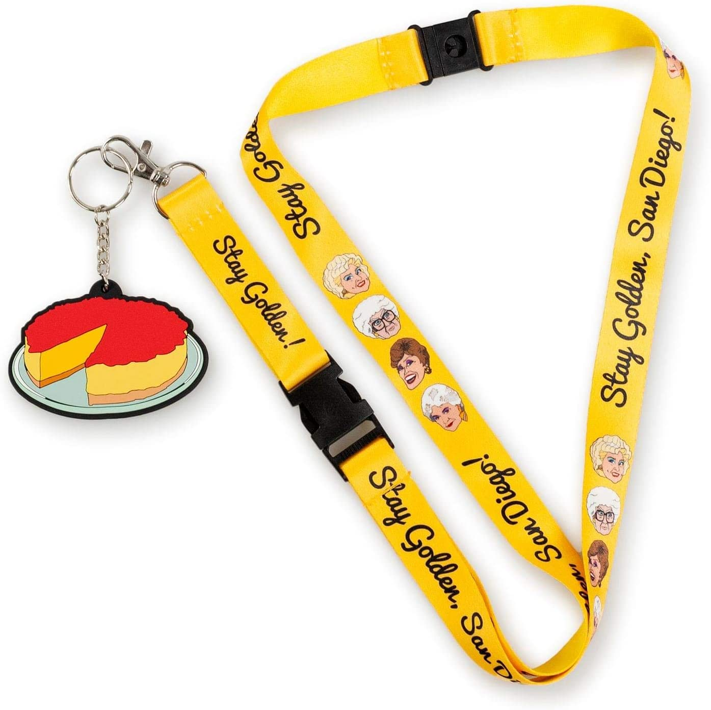 Lanyard w// Charm San Diego JUST FUNKY Golden Girls Special Edition Stay Golden