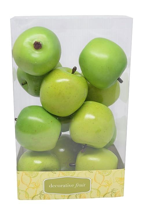 Florabunda 12 Piece Mini Decorative Fruit Green Apple