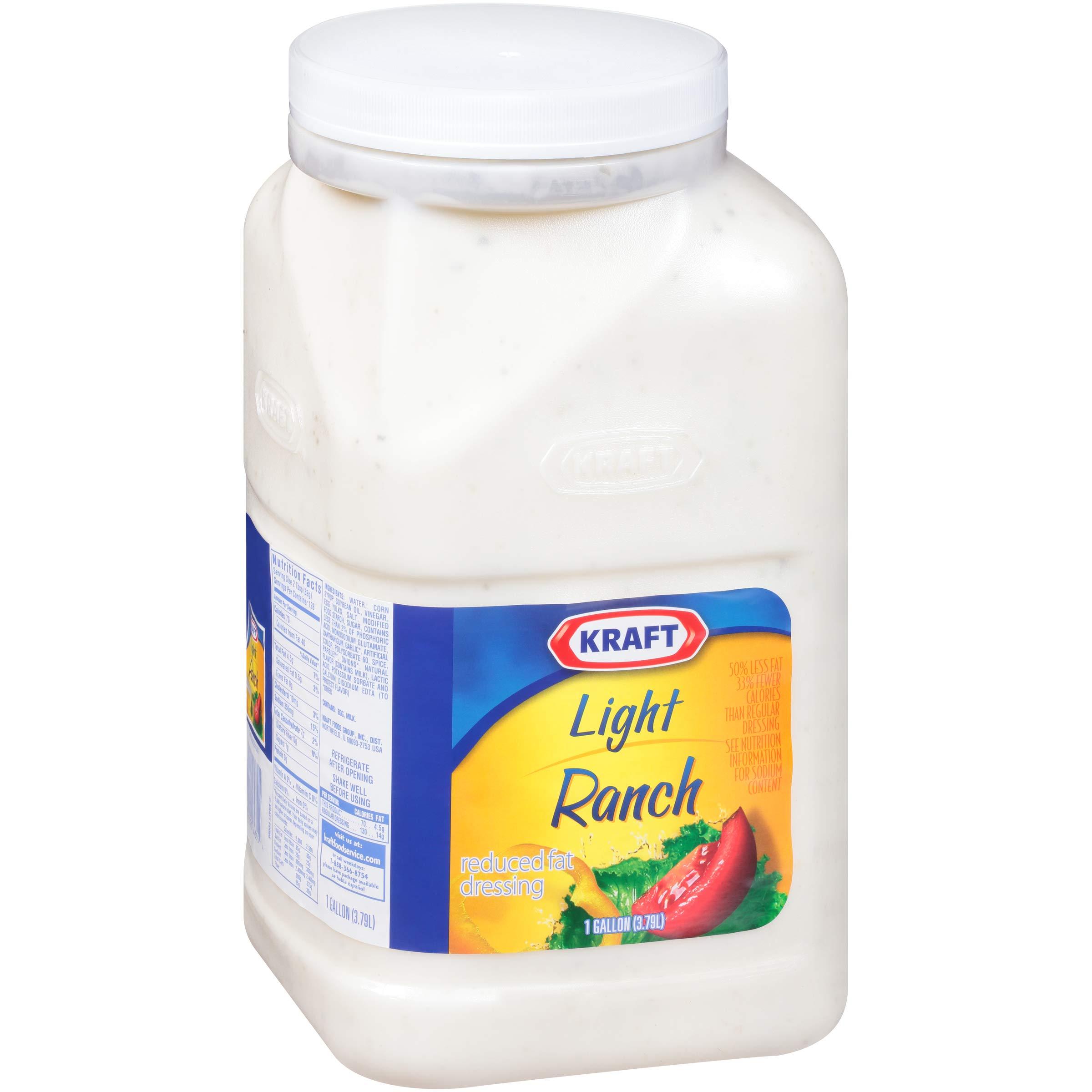 Kraft Ranch Reduced Fat Salad Dressing (1 gal Jugs, Pack of 4) by Kraft