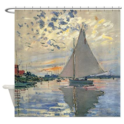CafePress Monet Sailboat French Impressionist Decorative Fabric Shower Curtain 69quot