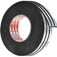 Kissral Dubbelzijdige Sticky Tape 3 stks Foam Tape Dubbelzijdige Sponge Tape 3 mm × 10 mm × 5 m Zelfklevende Tape Zwart…