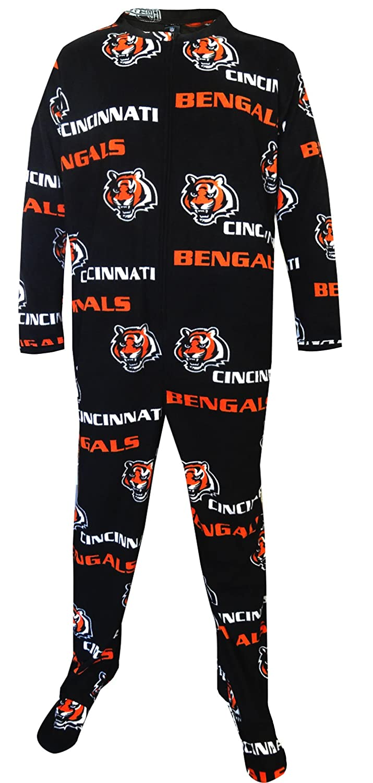 cincinnati bengals guys one piece footie pajama for men at amazon