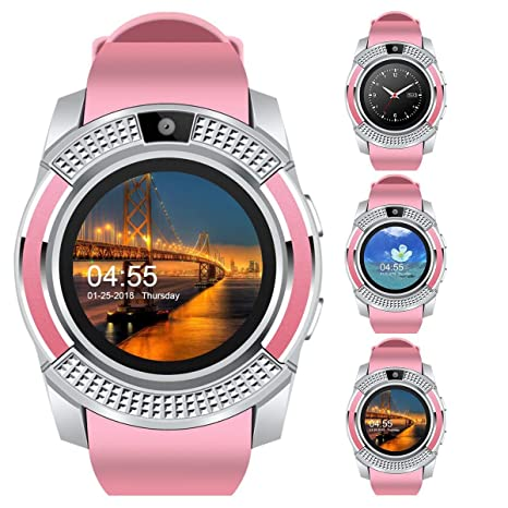 Padcod V8 Sports Smartwatch Bluetooth with Camera Message Push Touch Screen Pedometer Sedentary Reminder Sleep Monitor Instant Notification Anti-Lost ...