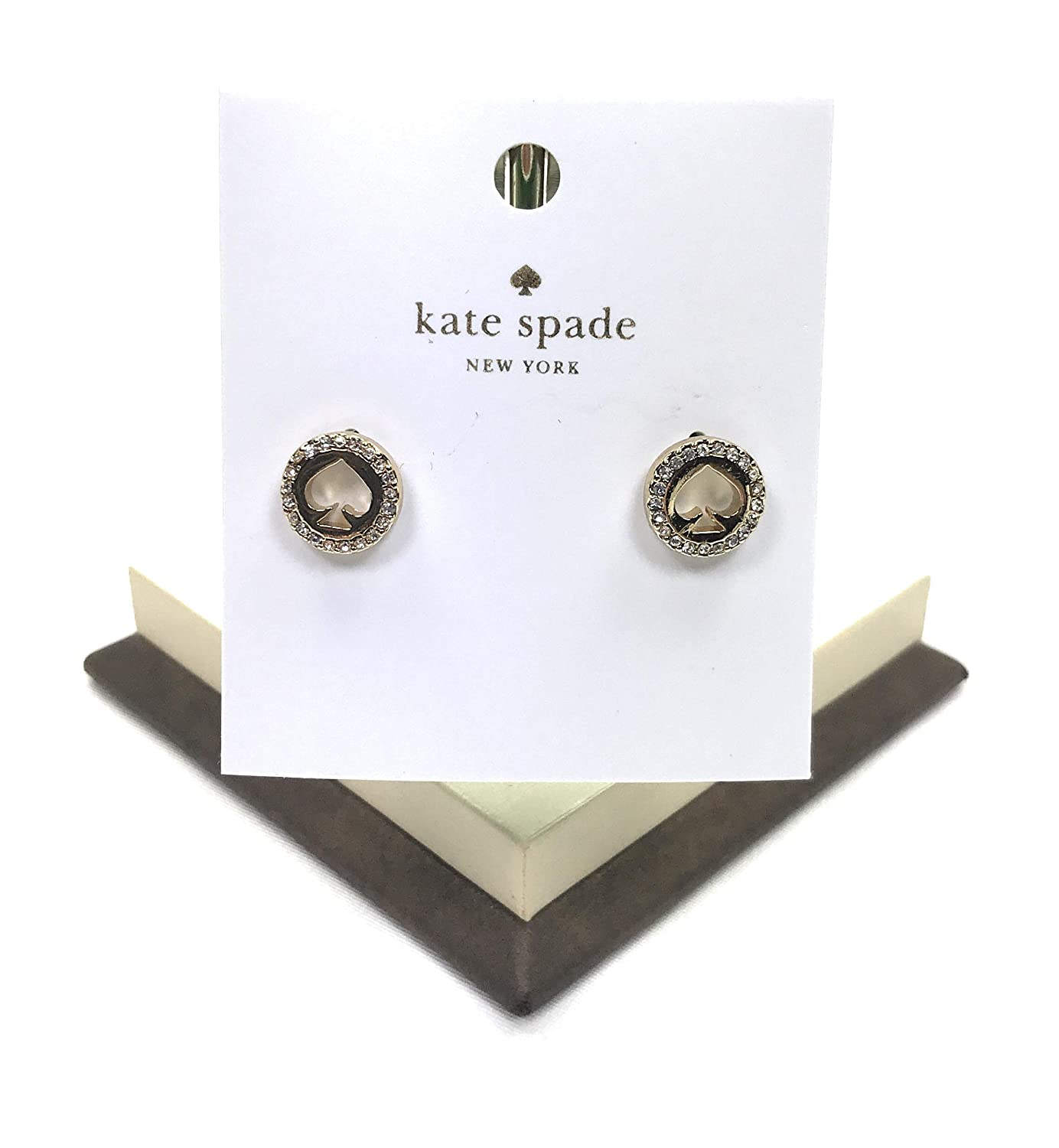 086d8fd2bf9be8 Amazon.com: kate spade new york stud earrings Spot the Spade Gold Plated  with Pave Crystals: Jewelry