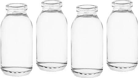 Wei/ß Lot DE 12 Verre casa-vetro Lot de 12 x Vase petit Verres Transparents pour d/écoration de Table ou de Mariage