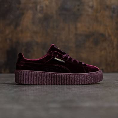 puma creepers burgundy womens