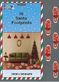 TOYLAND Paquete de 16 Huellas Papá Noel - Decoraciones de Navidad de Santa