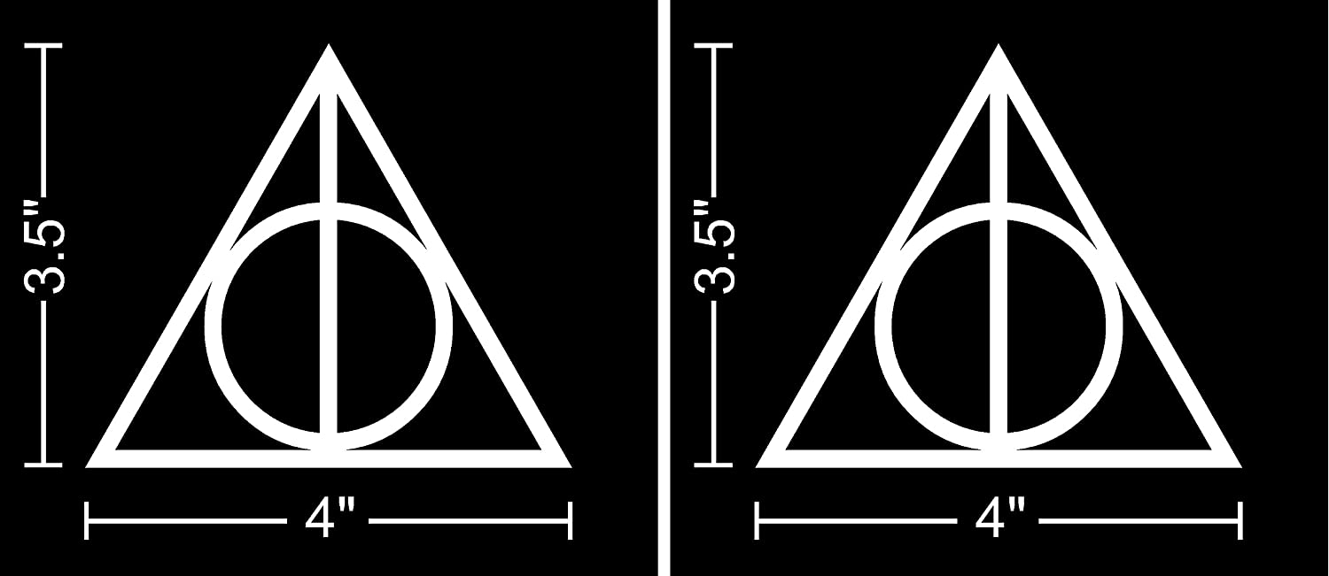 Amazon 2 Pack 4 Inch Deathly Hallows Harry Potter 2 Stickers