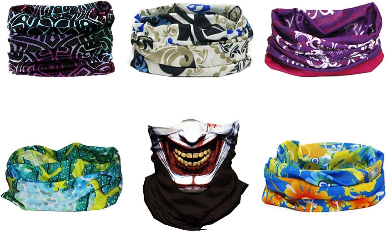 GOOD STUDIOS Multi-Functional Headband Sport Balaclavas Headwear Elastic Seamless Bandana Scarf for Outdoor Sport Motorcycling Halloween Dress-up