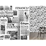 Walplus 147x1188 Cm Wall Stickers Vintage Newspaper Collage 1