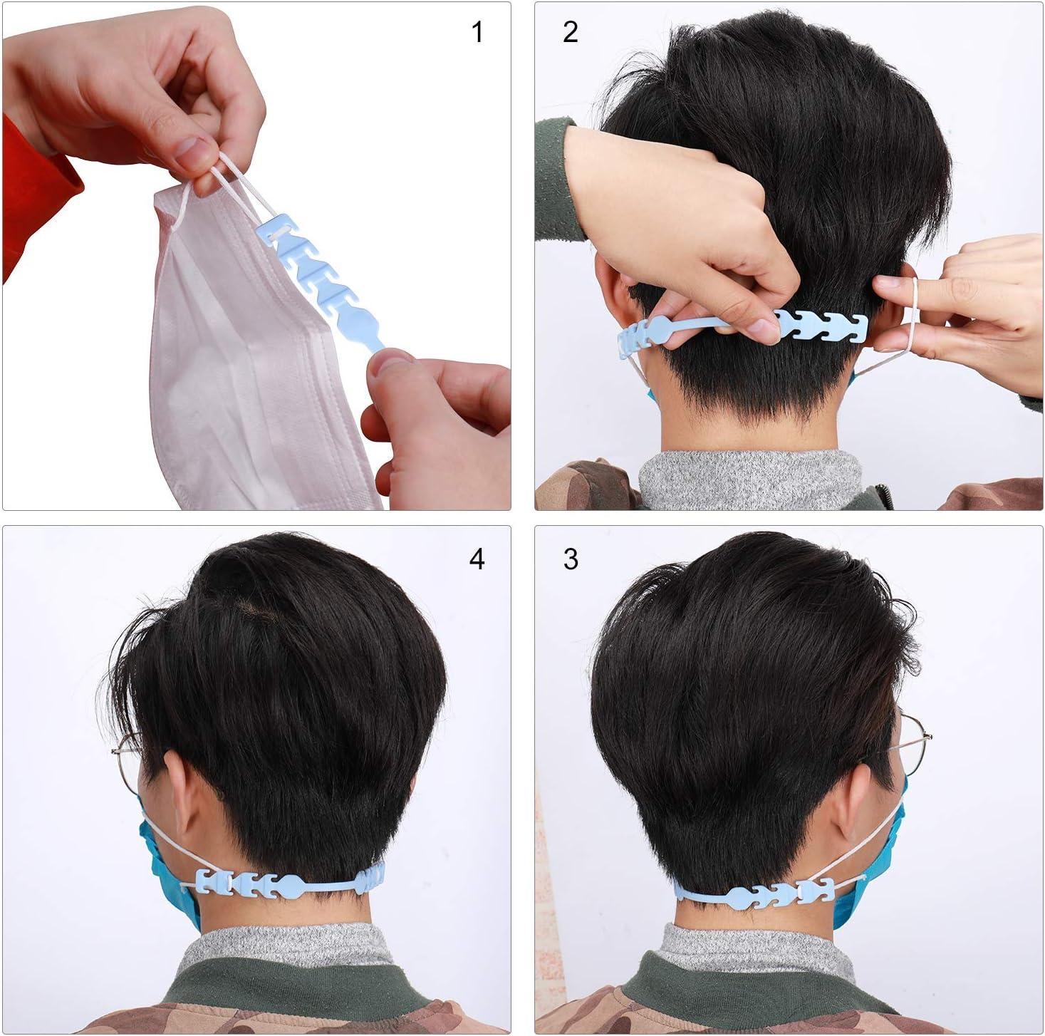 Adjustable Mask Ear Saver Strap Anti-Slip Ear Protection Buckle for Masks to Relieve Masks Pressure and Pain for Men,Women Child Black JISONCASE 5pcs Mask Extender Hook