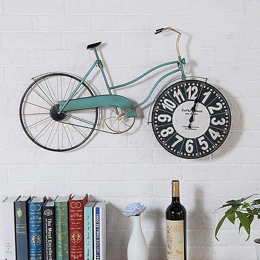 FPigSHS Reloj de pared Retro hierro Arte de pared barra industrial ...