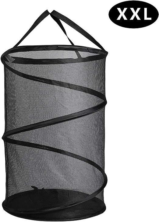 Honey Can Do Laundry Hamper Folding Clothes Foldable Mesh Pop Open Black 2 Pack
