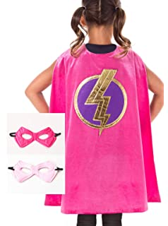 amazon com little adventures girl superhero cape 3 8 years toys