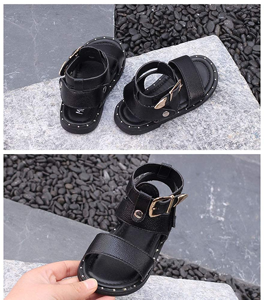 Navoku Leather Fashion Ankle Strap Kids Toddler Girls Sandals