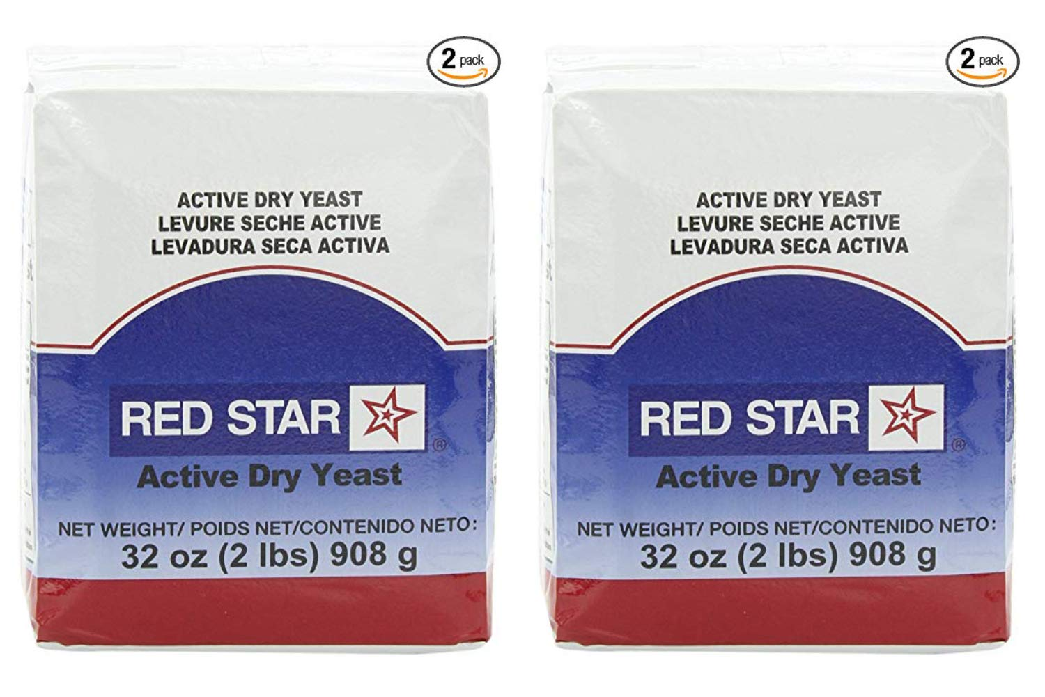 Red Star Active Dry Yeast, 32-Ounce Pouches (Pack of 2) (2 Pack) by Red Star (Image #1)