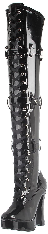 Pleaser Women's Electra-3028 Boot B00125UXXQ 7 B(M) US|Black Stretch Patent