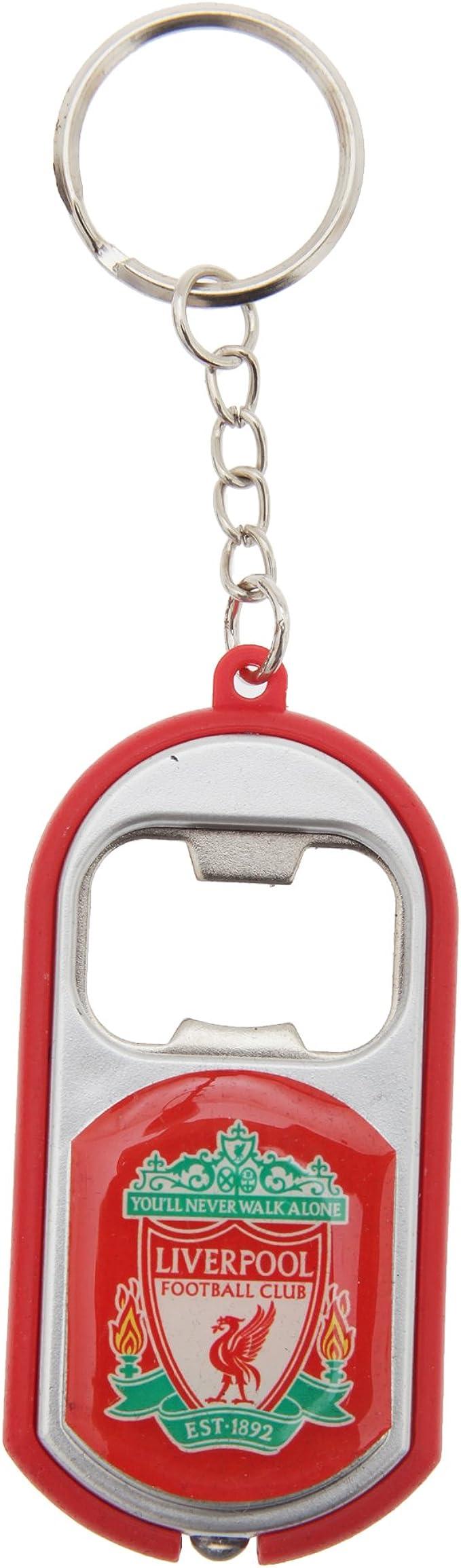 Schlüsselanhänger Mit Integriertem Flaschenöffner Liverpool Fc Design Einheitsgröße Rot Bekleidung