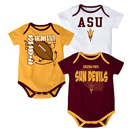 Arizona State Sun Devils Baby   Infant  quot 3 Point Spread quot  3 Piece  Creeper ff33f93a9