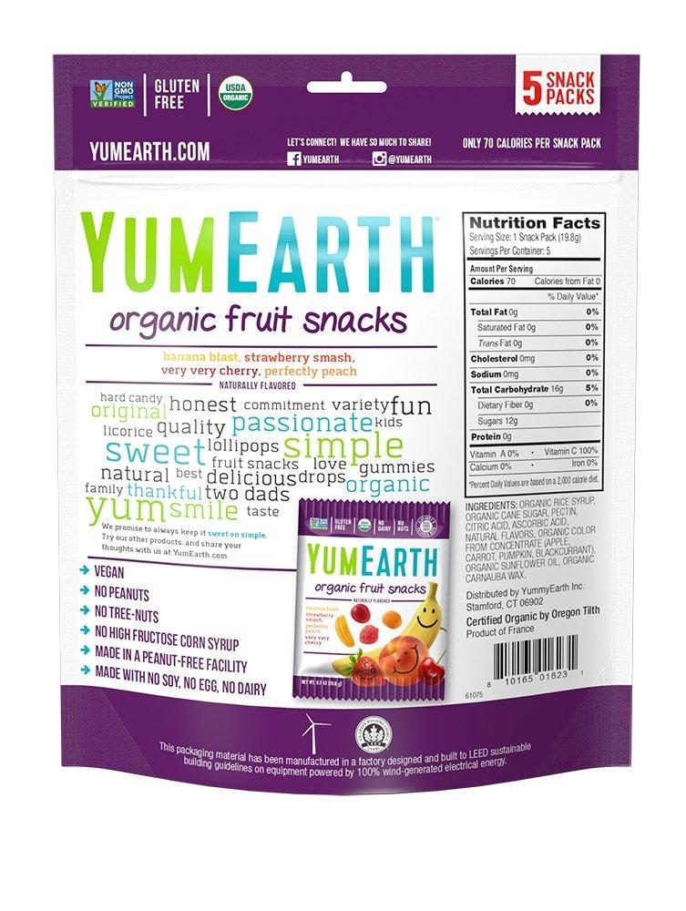 Amazoncom Yumearth Organic Fruit Snacks 07 Ounce Pack Of 5