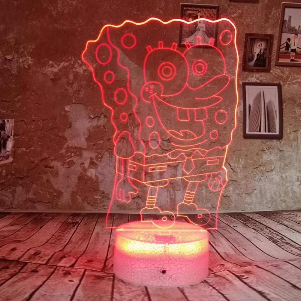 Cartoon Spongebob Squarepants 5D Night Light Lamp Colour Gradient ...