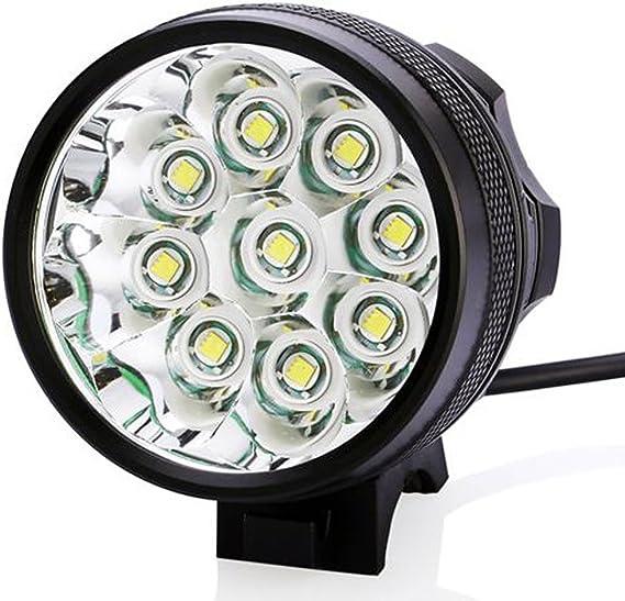 Amazon.com: 15000LM 9 x CREE XM-L T6 LED bicicleta Head ...