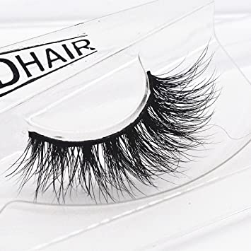 f6a5aa6a6ec Amazon.com : WENSY 1 pair of luxurious 3D thick mink hair false eyelashes  fluffy stripe eyelashes long natural party : Beauty