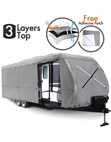 RVMasking RV 5th Wheel Cover 311-34L with Free Adhesive Repair Patch Lightweight /& Waterproof Camper Cover