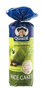Quaker, Rice Cakes, Apple Cinnamon, 6.52oz Bag (Pack of 4)