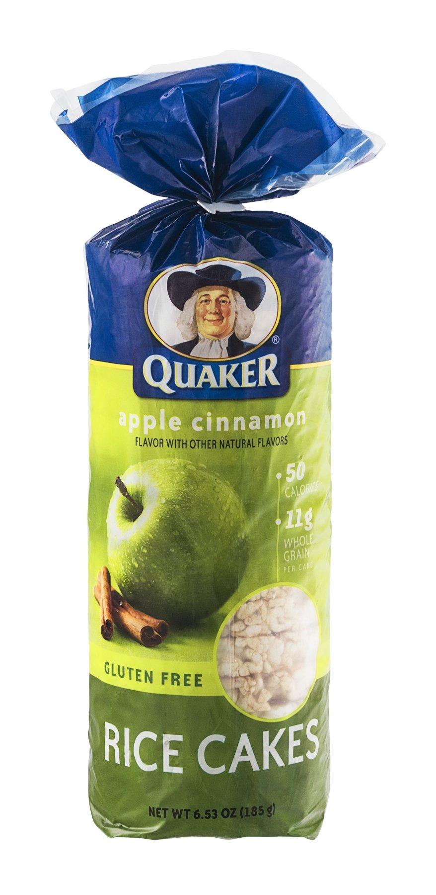 Quaker Rice Cakes Apple Cinnamon 6.53 Oz - 6 Unit Pack ... Quaker Rice Cakes Apple Cinnamon